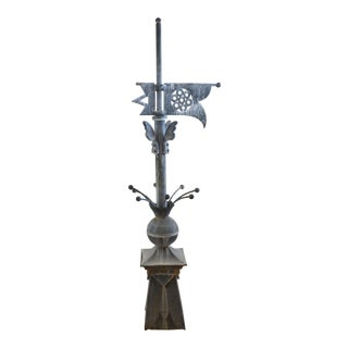 Late 19th Century Zinc Roof Finial For Sale