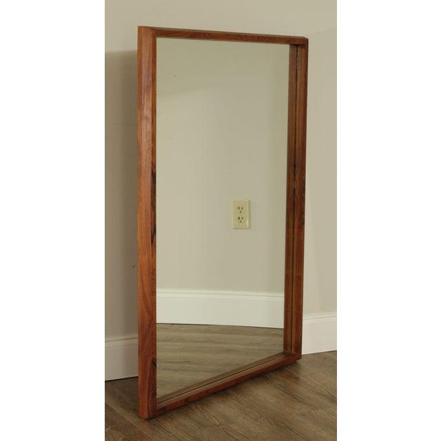 Mid-Century Modern Danish Modern Mid Century Rosewood Rectangular Wall Mirror For Sale - Image 3 of 13