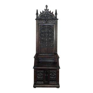 19th Century Gothic Cathedral Chair For Sale