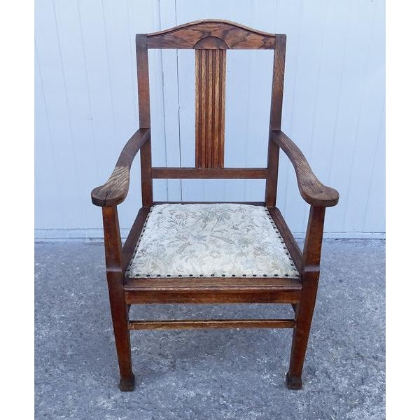 Antique Wood Dining Arm Chair Chairish