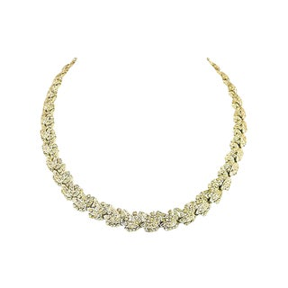 Art Deco Floral Crystal Necklace, 1920s For Sale