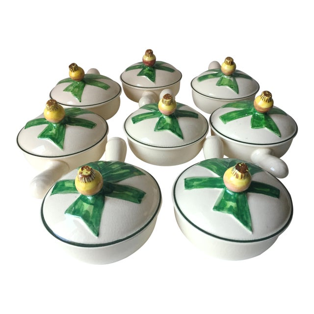 8 Vintage Onion Soup Covered Dishes For Sale