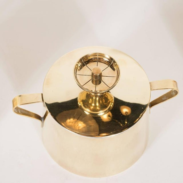 1960s Tommi Parzinger for Dorlyn Silversmiths Coffee/Tea Service in Brass and Walnut For Sale - Image 5 of 11