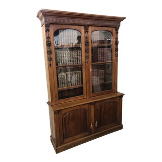 19th Century Antique Louis Philippe Bibliotheque Bookcase