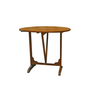 19th Century French Oval Walnut Wine Tasting Table For Sale