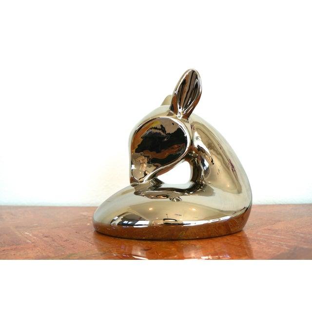 Vintage Jaru Silver Deer Statue - Image 4 of 8