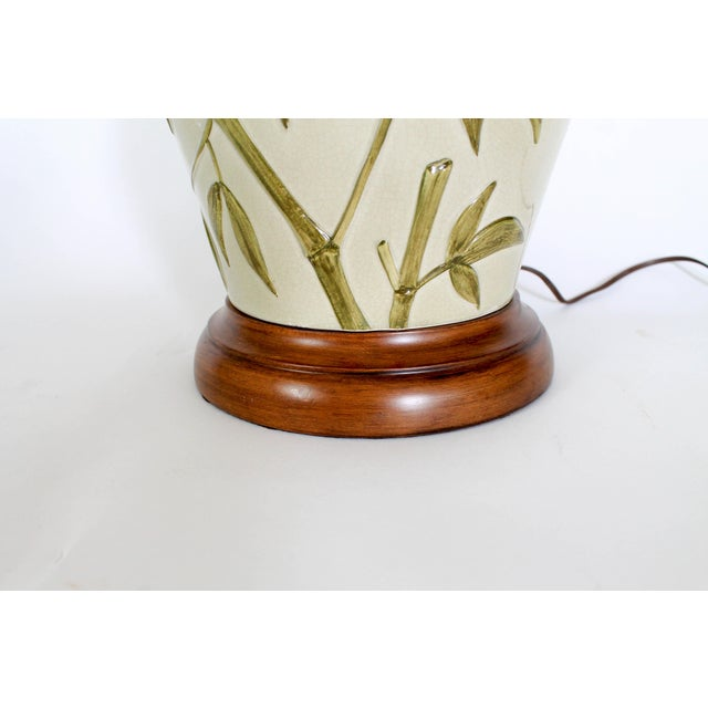 Frederick Cooper Table Lamp W/ Bamboo Motif For Sale In Milwaukee - Image 6 of 11