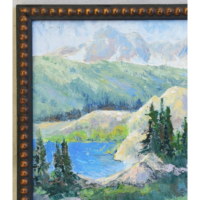Early 21st Century Zoltan, Plein Air Mountain and Lake Landscape Oil Painting For Sale - Image 5 of 9