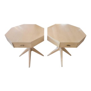 1954 Mid-Century Modern Octagonal End Tables - a Pair For Sale