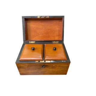 19th Century English Tea Caddy For Sale