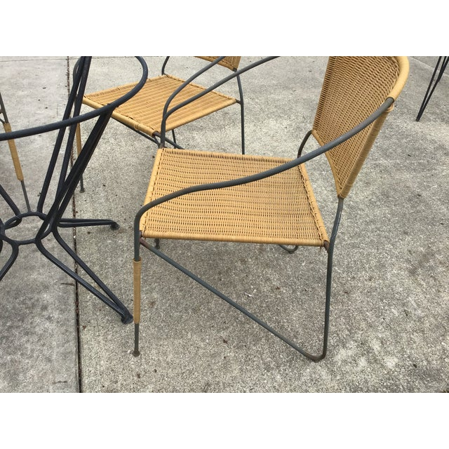 Mid 20th Century Maurizio Tempestini by Salterini Patio Table Chairs Dining Patio Last Call For Sale - Image 5 of 13