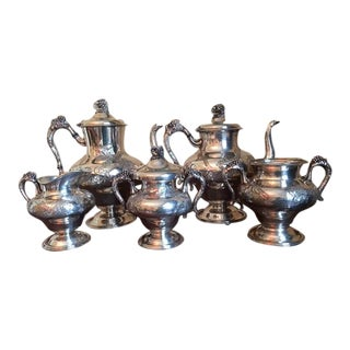 Early 19th C. Silver-On-Copper Coffee/Tea Service - Set of 5