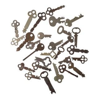 Set of 28 Vintage Flat Keys For Sale