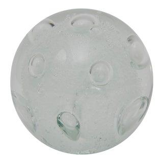 1920s Contemporary Bullicante Technique Clear Murano Glass Paperweight