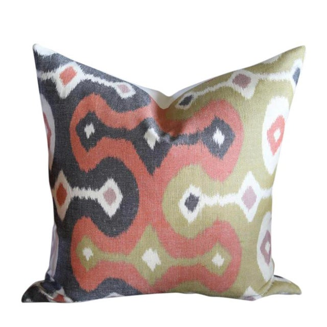 Schumacher Martyn Lawrence Bullard for Schumacher Ikat Pillow Covers - a Pair For Sale - Image 4 of 4