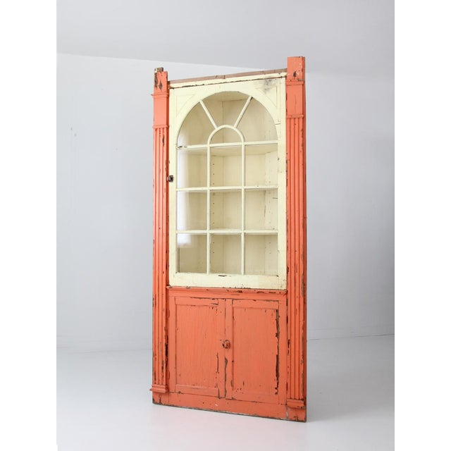 Antique Corner China Cabinet For Sale - Image 4 of 9