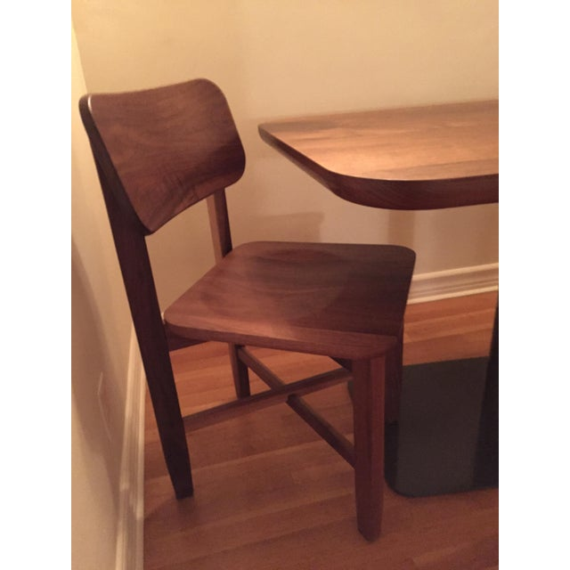 Rich Walnut Cafe Table & 2 Chairs - Image 9 of 9