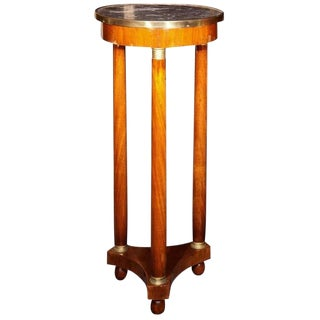 19th Century Marble-Top Pedestal For Sale