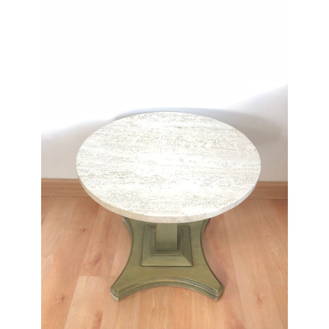 Vintage Italian Travertine Table For Sale - Image 5 of 6