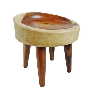 Albizia Two Tone Stool Seat For Sale