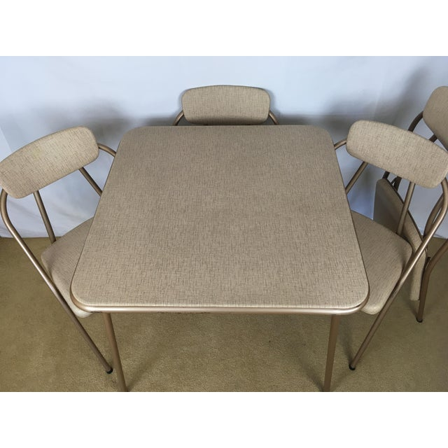 Mid-Century Modern Vintage Stylaire Mid Century Modern Folding Table and Chairs For Sale - Image 3 of 13