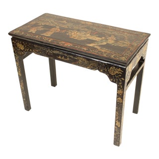 1930s Chinoiserie Coromandel Lacquer Occasional Table For Sale