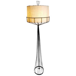 Tony Paul Mid-Century Modern Floor Lamp From the Wire Series For Sale