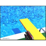 Image of ''Spring Dive'' Contemporary Outdoor Scene Acrylic Painting by Michael Giliberti, Framed For Sale
