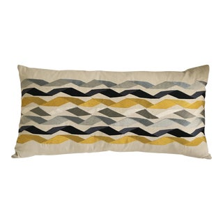 "James Hare Large Bolster Linen Pillow - 29"" x 15"" For Sale"