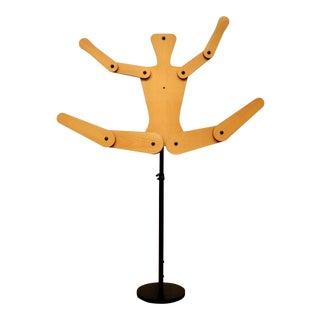 Positionable Wood Human Figure Sculpture For Sale