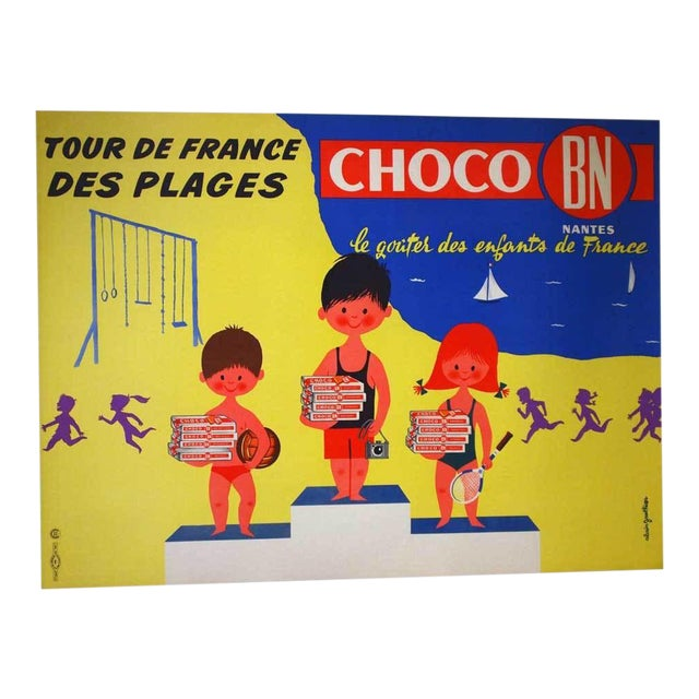 """Original French """"Choco Bn"""" Advertising Poster - Image 1 of 5"""