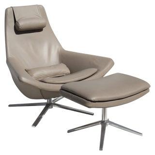 "Jeffrey Bernett B & B Italia ""Metropolitan Chair & Ottomon"" For Sale"