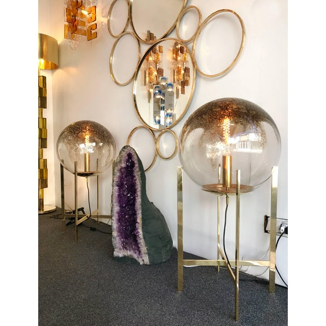 1990s Brass Floor Lamps by La Murrina Murano Glass, Italy, 1990s For Sale - Image 5 of 10