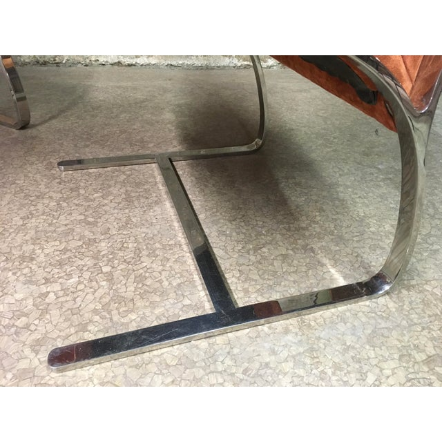 Metal Bert England Brueton Steel Frame Cantilevered Lounge Chairs- a Pair For Sale - Image 7 of 11