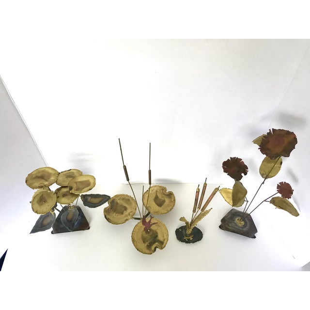 Vintage Botanical Brass Sculptures - Set of 4 - Image 3 of 7