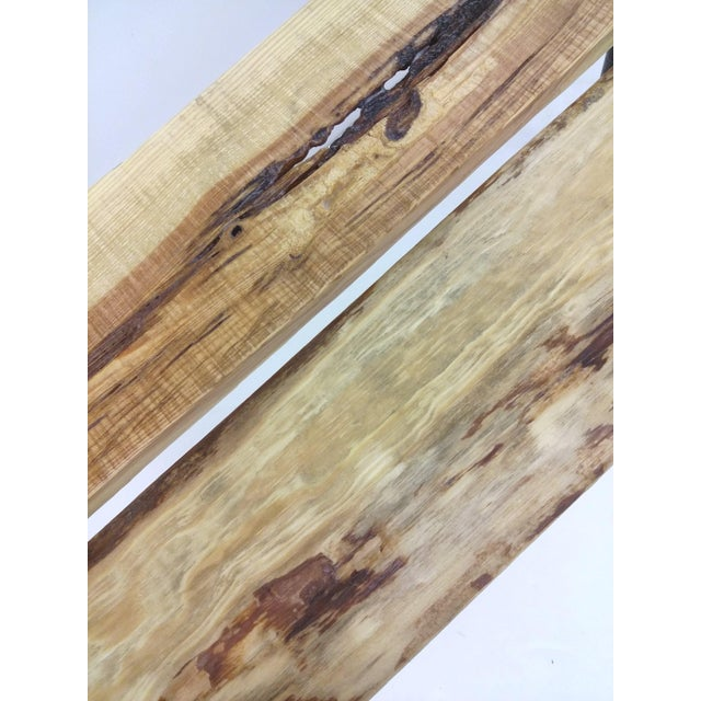 Pallet Wood Hand Finished Narrow Hallway Bench For Sale - Image 11 of 12
