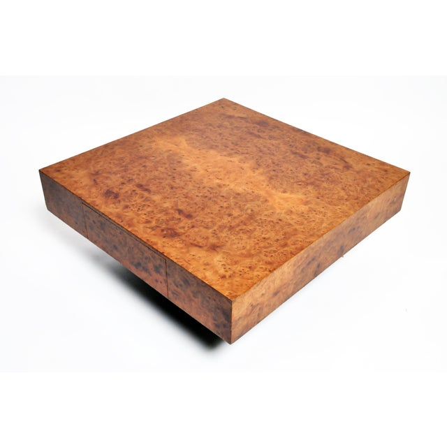 Wood French Burl Wood Table With Two Drawers For Sale - Image 7 of 13