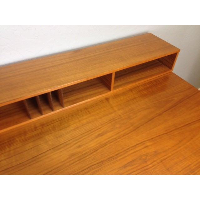 Jens Quistgaard Flip-Top Console Desk in Teak For Sale - Image 9 of 9