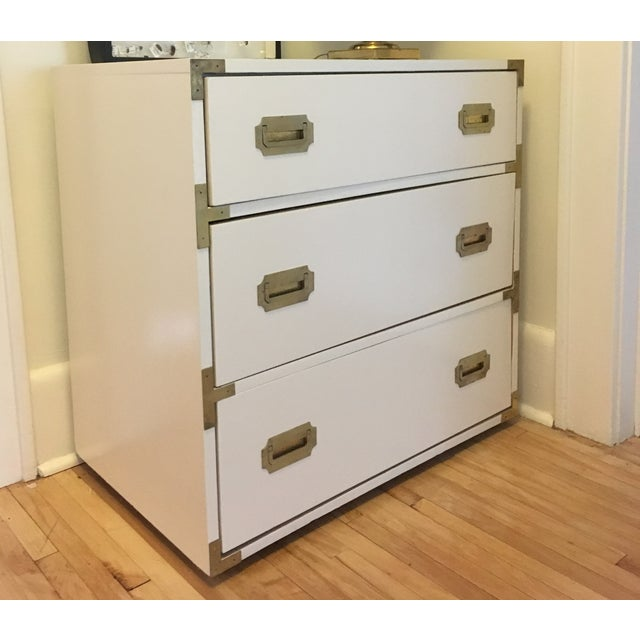 Campaign Schoolfield Industries Hickory White Chest of Drawers For Sale - Image 9 of 9