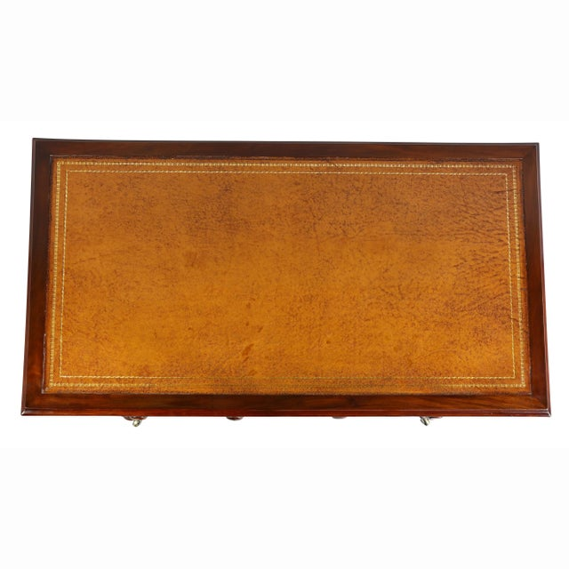 English Traditional Regency Mahogany Writing Table For Sale - Image 3 of 12
