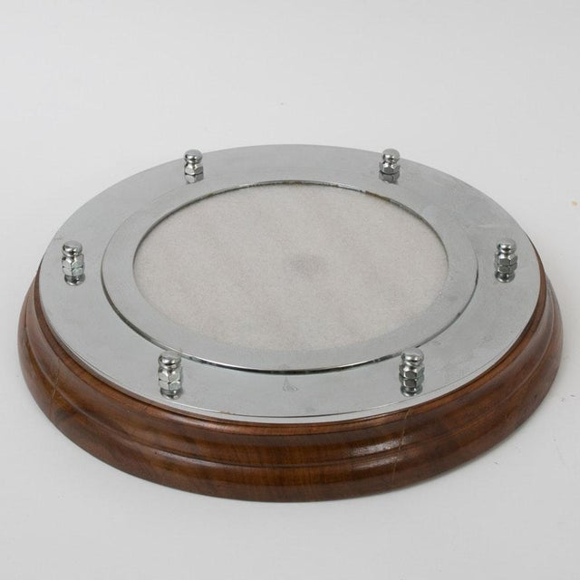 Hollywood Regency Nautical Portholes Mirror & Frame Set - a Pair For Sale - Image 3 of 8
