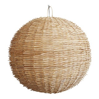 Bird Nest Rattan Globe Lantern Large For Sale