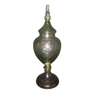 Cut Glass Beverage Container/Samovar For Sale