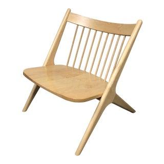 Room & Board Oskar Wood Lounge Chair For Sale