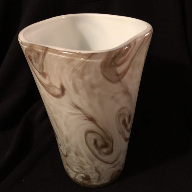 """Starry Night"" Murano Toso Vase - Image 6 of 6"