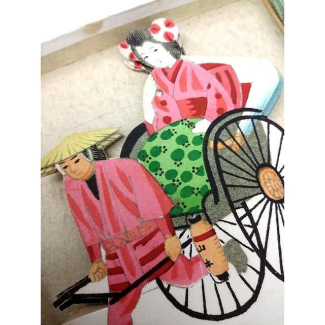 Vintage Japanese Paper Umbrella & Rickshaw Placeholders Set - Image 7 of 9