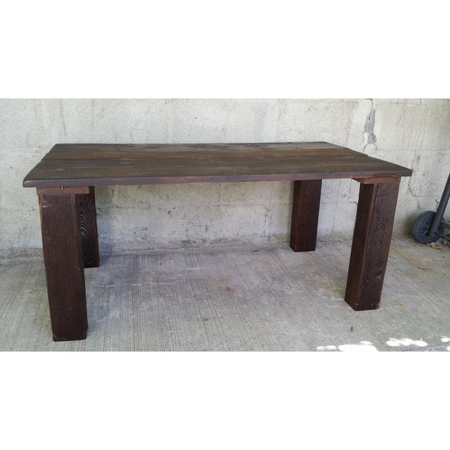 Reclaimed Wood Coffee Table - Image 2 of 4