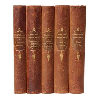 Danish Leather-Bound Books, S/5