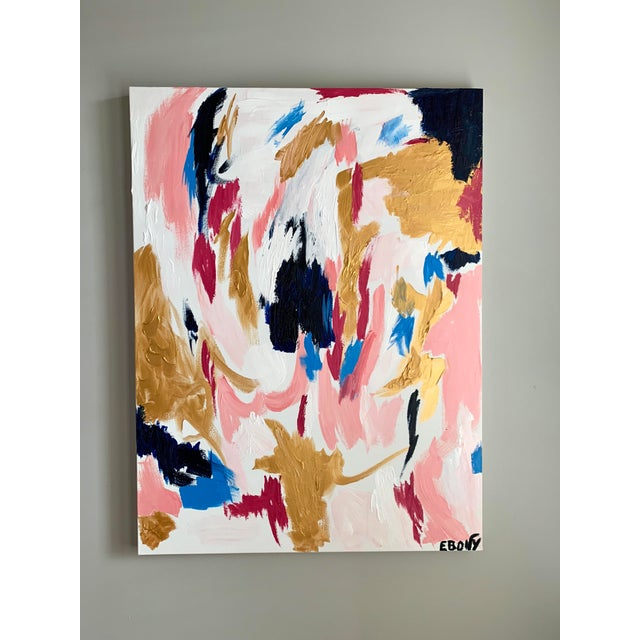 Acrylic Paint Ebony Boyd Contemporary Abstract Painting For Sale - Image 7 of 7