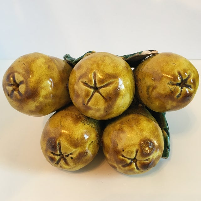 Ceramic Decorative Fruit Figs - A Pair - Image 7 of 8